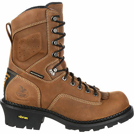 60f218e443d5 Georgia Boot Men s Comfort Core Logger Composite Toe Waterproof Insulated  Vibram Outsole Boot