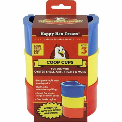 Happy Hen Treats Poultry Coop Cups; Pack of 3
