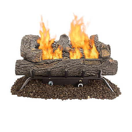Pleasant Hearth 18 in. Southern Oak Vent-Free Gas Log Set