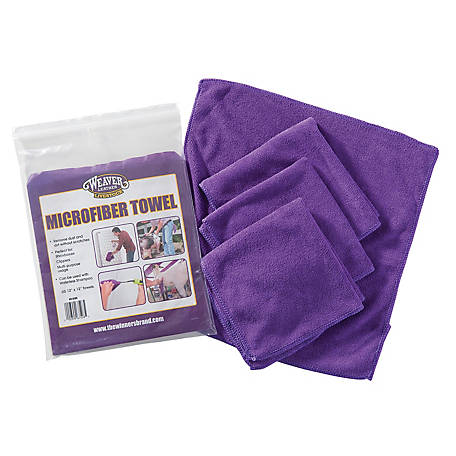 Weaver Leather Microfiber Towel, 4 Pack