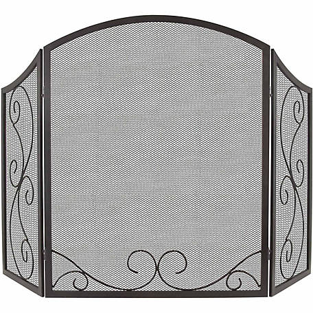 Pleasant Hearth Scroll Fireplace Screen