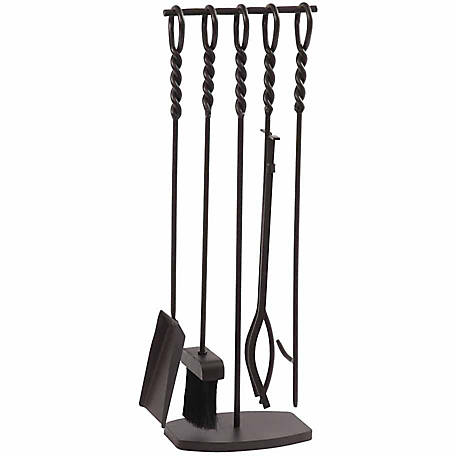 Pleasant Hearth Waverly 5-Piece Fireplace Tool Set