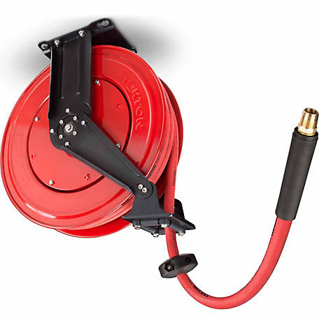 TEKTON 50 ft. x 1/2 in. I.D. Dual Arm Auto Rewind Air Hose Reel