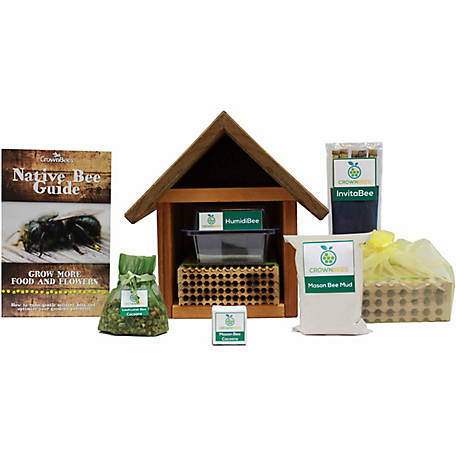 Crown Bees BeeWorks Chalet with Certificate for 20 Mason Bees and 100 Leafcutter Bees