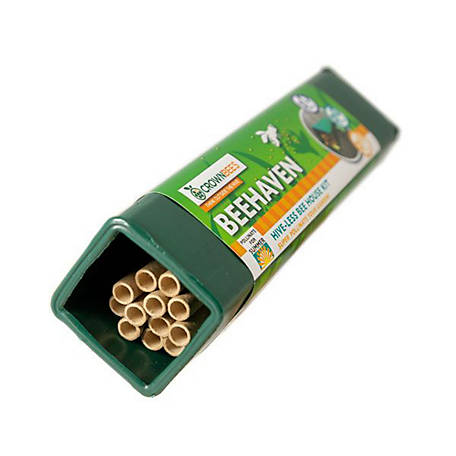 Crown Bees BeeHaven Summer Pollination Kit with Certificate for 30 or More Leafcutter Bee Cocoons