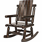 Red Shed Single Log Rocker, Stained
