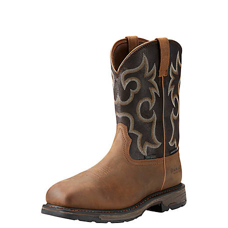 Ariat Men's 11 in. Brown & Coffee Composite Waterproof 400G Insulated Workboot