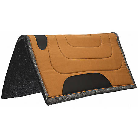 Weaver Leather Canvas Top Pad Brown