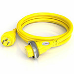 Furrion 30A Marine Cordset, 12 ft., Yellow, LED