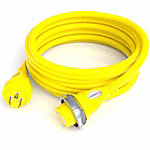 Furrion 30A Marine Cordset, 50 ft., Yellow, LED