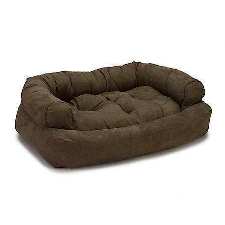 Snoozer Luxury Microsuede Overstuffed Dog Sofa