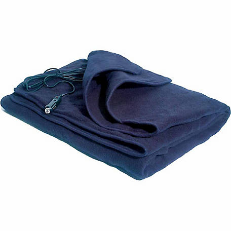 Comfy Cruise 12V Heated Travel Blanket, Navy