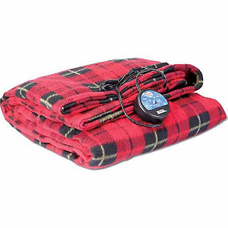Comfy Cruise 12V Heated Travel Blanket, Red Plaid