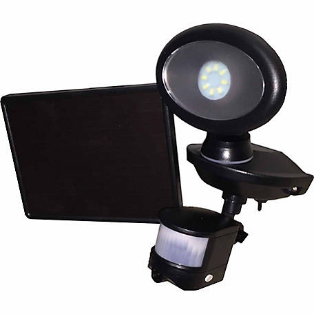 MAXSA Innovations Solar Security Video Camera and Spotlight, Black