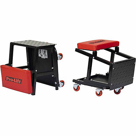 Pro-Lift Creeper Seat & Stool Combo, 300 lb.