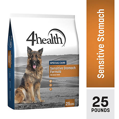 4health Special Care Sensitive Stomach Formula for Adult Dogs, 25 lb. Bag