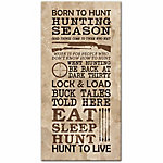 Designs Direct Hunting Season Words 10x20 Canvas Wall Art
