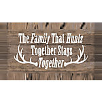 Designs Direct The Family That Hunts 20x10 Canvas Wall Art