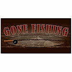 Designs Direct Gone Fishing 20x10 Canvas Wall Art