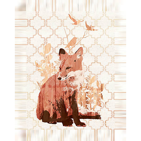 Designs Direct Fox Thoughts 12x16 Canvas Wall Art