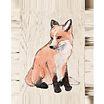 Designs Direct Foxy Watercolor 12x16 Canvas Wall Art