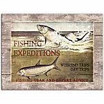 Designs Direct Fishing Expeditions 16x12 Canvas Wall Art