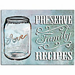 Designs Direct Family Recipes 16x12 Canvas Wall Art