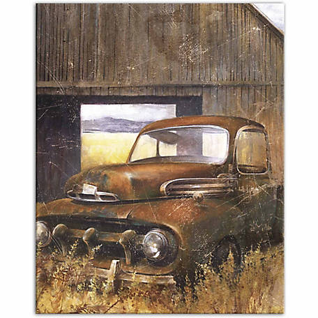 Designs Direct Rusty Farm Truck Two 16x20 Canvas Wall Art