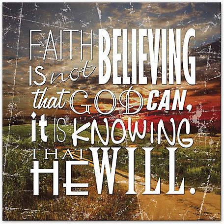 Designs Direct Faith Typography 20x20 Canvas Wall Art