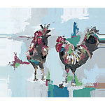 Designs Direct Painterly Chickens 24x20 Canvas Wall Art