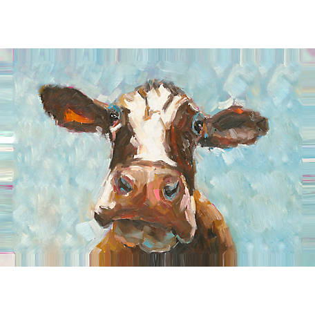 Designs Direct Daisy The Cow 36x24 Canvas Wall Art