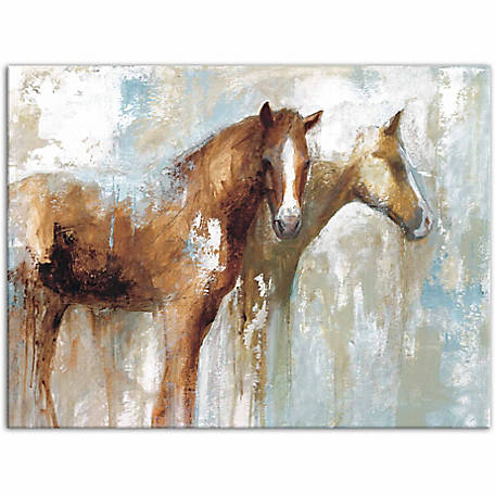 Designs Direct Horse Pals 40x30 Canvas Wall Art