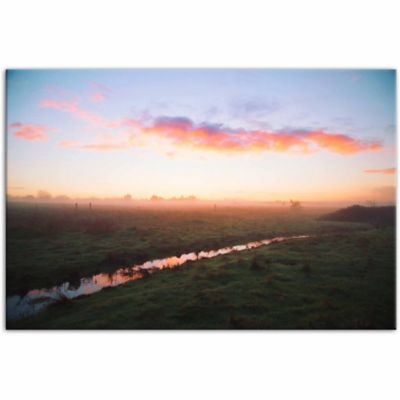 Designs Direct Sunset Field 48 In X 32 In Canvas Wall Art At Tractor Supply Co