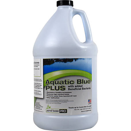 Pond Boss Pro Aquatic Blue PLUS Bacteria, 1 gal., 34128