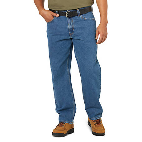 Blue Mountain Men's Denim 5-Pocket Jean, Relaxed Fit