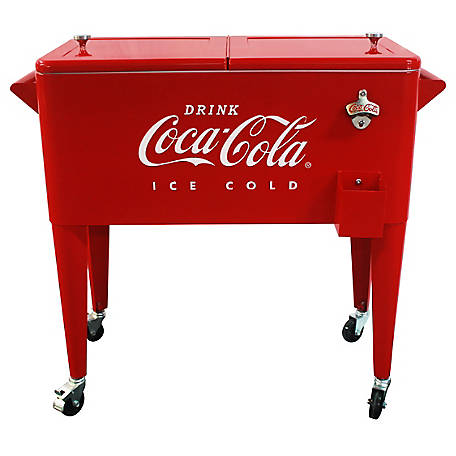 Leigh Country 80 qt. Coca-Cola Embossed Ice Cold Cooler, CP 98121