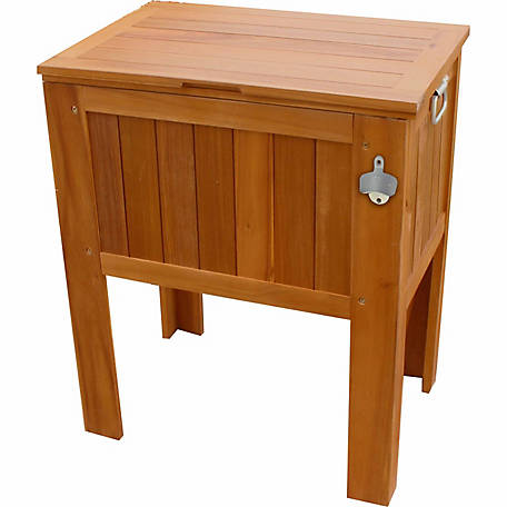 Leigh Country Amber-Log Wooden Slat Country Cooler, TX 36300