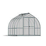 Palram Bella 8 ft. x 8 ft. Hobby Greenhouse, Silver