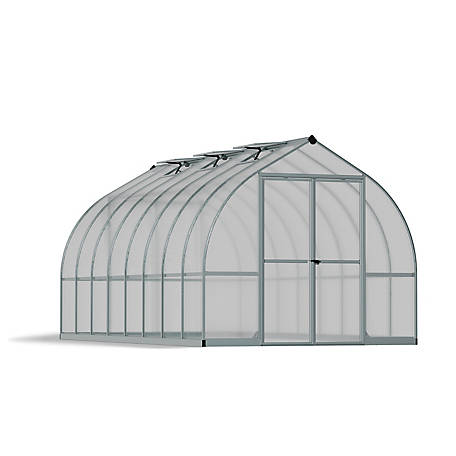 Palram Bella 8 ft. x 16 ft. Hobby Greenhouse, Silver