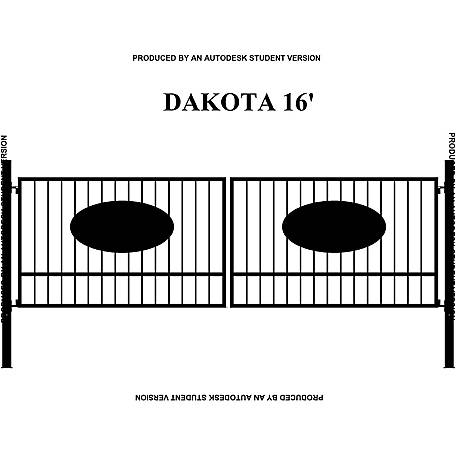 Gate Builders Dakota 16 Ft With Oval Inserts At Tractor