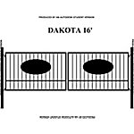 Gate Builders Dakota, 16 ft. with Oval Inserts