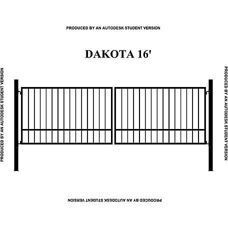 Gate Builders Dakota, 16 ft. with Finials