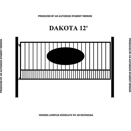 Gate Builders Dakota, 12 ft. with Oval Inserts
