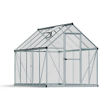 Palram Mythos 6 ft. x 10 ft. Hobby Greenhouse, Silver