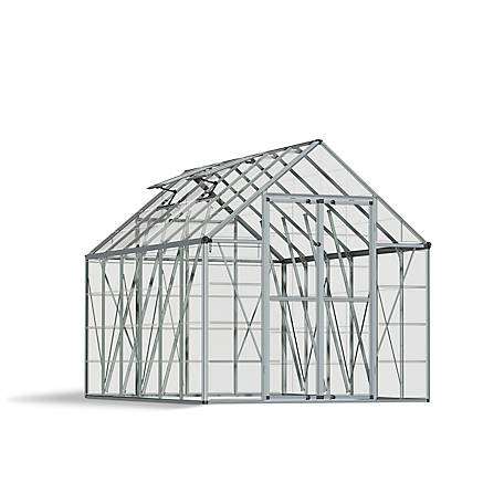 Palram Snap & Grow 8 ft. x 12 ft. Hobby Greenhouse, Silver