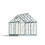 Palram Snap & Grow 6 ft. x 8 ft. Hobby Greenhouse, Silver