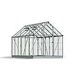 Palram Snap & Grow 6 ft. x 12 ft. Hobby Greenhouse, Silver