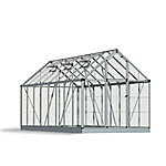 Palram Snap & Grow 6 ft. x 16 ft. Hobby Greenhouse, Silver
