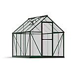 Palram Mythos 6 ft. x 8 ft. Hobby Greenhouse, Green