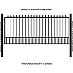 Gate Builders Dakota, 12 ft. with Finials